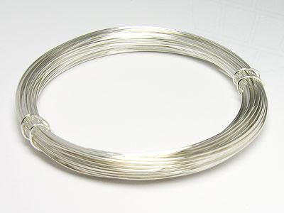 Silberdraht hart mit Kupferkern 0,6mm (silber) bei gogoritas®