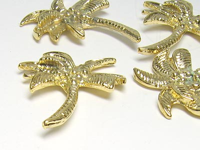 "Jewelry Ornament ""Palm big"" 30.0x25.0mm (gold, Second Quality)"